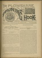 Plowshare and pruning hook: indicator of commercial equation, vol. 01, no. 12 (August 8, 1891)