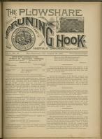 Plowshare and pruning hook: indicator of commercial equation, vol. 01, no. 13 (August 15, 1891)