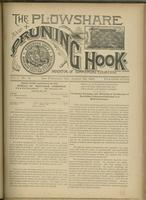 Plowshare and pruning hook: indicator of commercial equation, vol. 01, no. 14 (August 22, 1891)