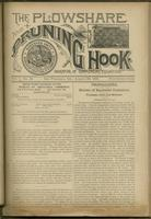 Plowshare and pruning hook: indicator of commercial equation, vol. 01, no. 15 (August 29, 1891)