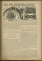 Plowshare and pruning hook: indicator of commercial equation, vol. 01, no. 16 (September 5, 1891)