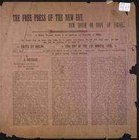 Free press of the New Eve, New House or Body of Israel, vol. 01, no. 01 (March 29, 1895)