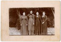 Four young Amana women, original photograph