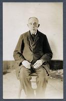 George Bernhart (died 1919), portrait, seated, ca. 1918