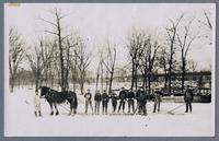 Homestead ice cutting scene - post card stock. [front]
