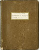 Minutes Book #1 of Excutive [sic.] Bd., 7/3/1912 to 11/9/1915