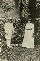 Benjamin and Mary Purnell posed outside [slide]