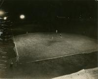 Baseball game at night