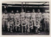 House of David Eastern Travelers baseball team posed in uniform