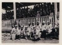 City of David baseball team posed seated in uniform