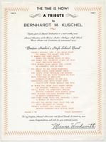 The time is now! A tribute to Bernhardt M. Kuschel