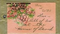 Flower card tag from House of David Greenhouses