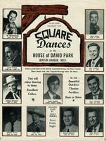 Plan now to enjoy the square dances at the House of David Park, Benton Harbor, Mich.