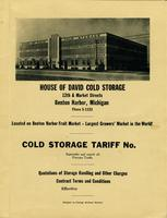 House of David Cold Storage 12th & Market Streets, Benton Harbor, Michigan Phone 5-1123