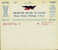 Israelite House of David, Benton Harbor, Michigan, U.S.A.