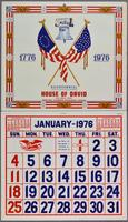 1776-1976 Bicentennial calendar, House of David