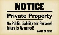 Private Property, no public liability for personal injury is assumed