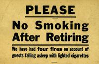 No smoking after retiring