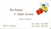 Bee Keeper & Apple Grower House of David