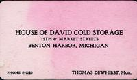 House of David Cold Storage 12th & Market Streets, Benton, Michigan