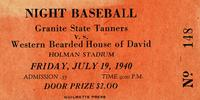 Granite State Tanners v.s. Western Bearded House of David, Holman Stadium