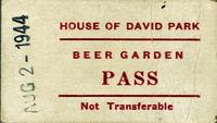 Beer Garden pass, House of David Park