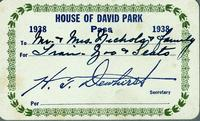 House of David Park Pass 1938