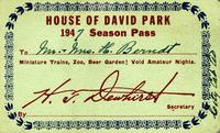 House of David Park 1947 Season Pass