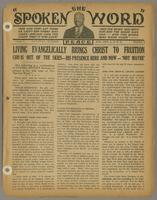 Spoken word, vol. 01, no. 02 (October 27, 1934)